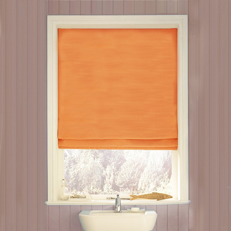 Swish Quality Easy To Install Corded Roman Roll Up Window Roller Blind, Terracotta, W180 x D160cm