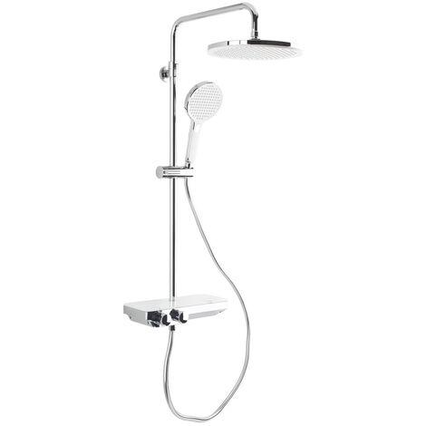 Swiss Aqua Technologies Colonne de douche avec mitigeur thermostatique et tête de douche XXL 255mm (SATSSTPBCH)