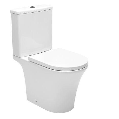 Swiss Aqua Technologies Combi WC à poser sans bride, avec abattant softclose - remplissage par le bas (SATBRE030RREXVP)