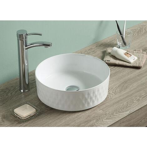 "main image of ""Swiss Aqua Technologies Vasque à poser Infinitio 36 x 36 x 12 cm sans trop-plein, blanc (SATINF3636)"""
