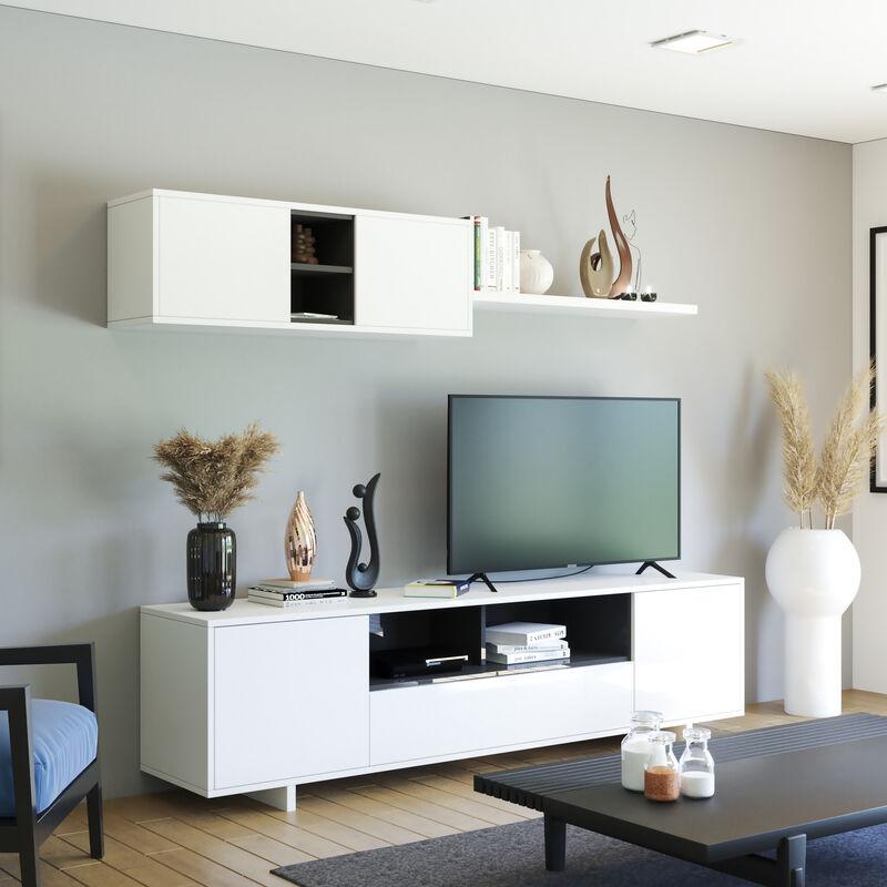 Swiss Parete attrezzata mobile TV base sala da pranzo Bianco salotto soggiorno