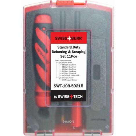 SwissBurr B & C Standard Duty Deburring & Scraping Set 11PC