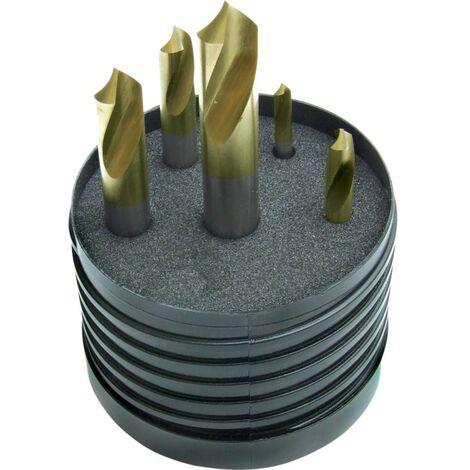 SwissTech 4 - 12mm 90DEG Spotting Drill Set Tin Tipped 5PC
