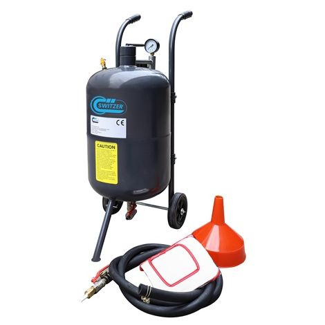 "main image of ""SwitZer 10 Gallon Sandblaster With Nozzle Pressure Gauge 2.5m Hose Filling Funnel"""