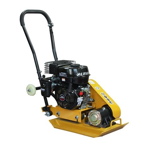 """main image of """"SwitZer Heavy Duty Petrol Engine Compactor Plate HS-60 Cast Activator with Wheels"""""""