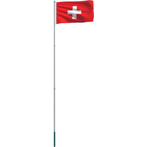 Switzerland Flag and Pole Aluminium 6 m