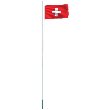 Switzerland Flag and Pole Aluminium 6,2 m