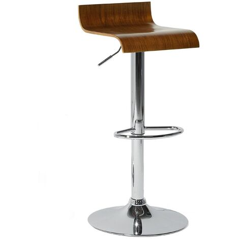 Swivel Bar Stool Brown VALENCIA I