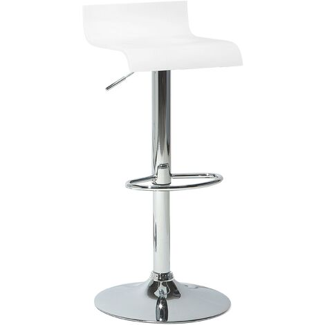 Swivel Bar Stool White VALENCIA