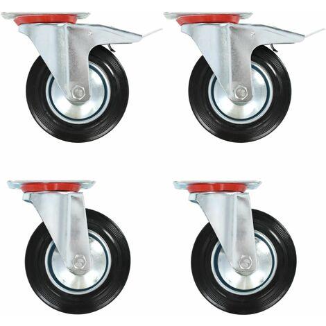 Castor Wheels Heavy Duty Swivel Transport Rollers Polypropylene Castors 12 Pcs Maximum Load 50 KG per Wheel 50 mm