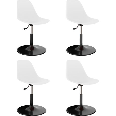 Swivel Dining Chairs 4 pcs White PP