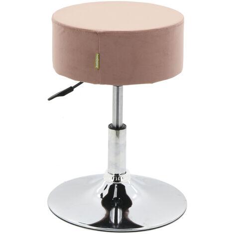 """main image of """"Swivel Height Adjustable Dresser Dressing Table Stool Kitchen Breakfast Bar Stool Chair (Pink, Velvet)"""""""