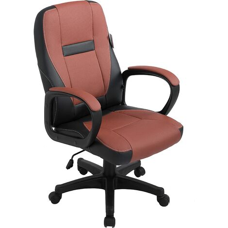 Swivel Perforated PU Leather Office Chair