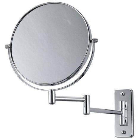 Swivel Wall Mirror - 1X/5X Magnification - Chrome