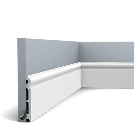 SX138 Plinthe polymère Orac Decor Axxent - 14x1,5x200cm (h x p x l) - plinthe décorative - rigideouflexible : rigide - conditionnement : A l'unité