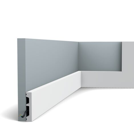 SX157 Moulure multifontionnelle Orac Decor Axxent -6,5x1,3x200cm (h x p x l) - plinthe décorative - rigideouflexible : rigide - longueur : 200cm - conditionnement : A l'unité