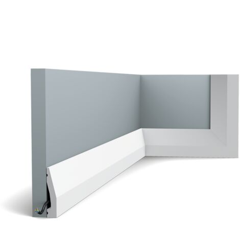 SX159 Moulure multifontionnelle Orac Decor Axxent - 6x1,2x200cm (h x p x l) - plinthe décorative - longueur : 200cm - conditionnement : A l'unité
