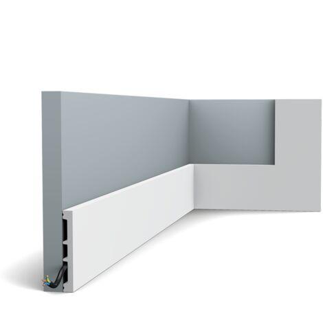 SX163 Moulure multifonctionnelle Orac Decor Axxent - 10x1,3x200cm (h x p x l) - plinthe décorative - rigideouflexible : rigide - longueur : 200cm - conditionnement : A l'unité