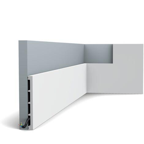 SX168 Moulure multifonctionnelle Orac Decor Axxent - 15x1,3cm (h x p) - plinthe décorative - longueur : 200cm - conditionnement : A l'unité