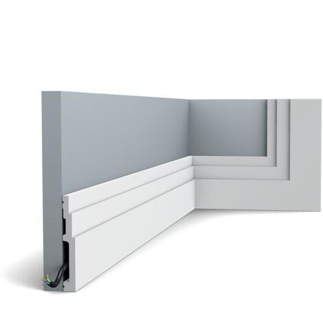 SX180 Plinthe Polymère Orac Decor Axxent - 12x1,6x200cm (h x p x l) - plinthe décorative - rigideouflexible : rigide - conditionnement : A l'unité