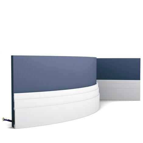 SX180F Flexible Plinthe Polymère Orac Decor - 12x1,6x200cm (h x p x l) - plinthe décorative - rigideouflexible : flexible - conditionnement : A l'unité