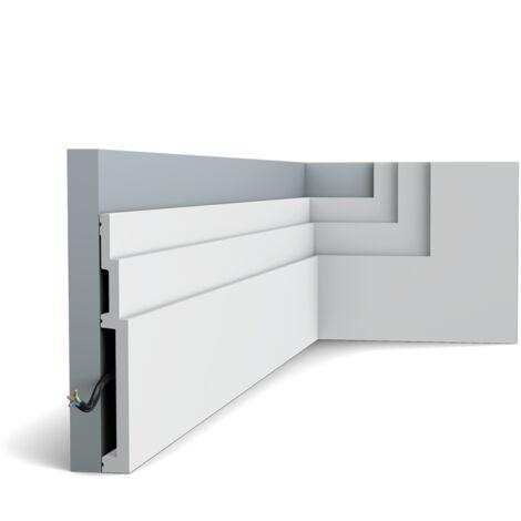 SX181 Plinthe Polymère Orac Decor Axxent - 20 x 2,2x200cm (h x p x l) - plinthe décorative - conditionnement : A l'unité