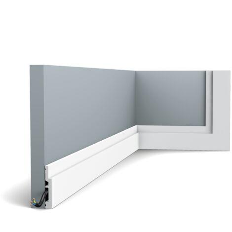 SX187 HIGHLINE Plinthe Polymère Orac Decor Axxent - 7,5x1,2x200cm (h x p x l) - plinthe décorative - conditionnement : A l'unité - rigideouflexible : rigide
