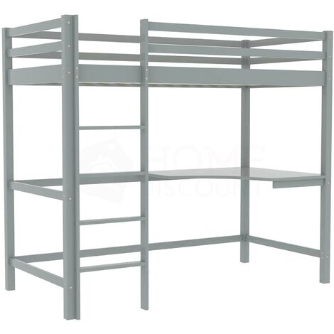 """main image of """"Sydney Bunk Bed With Desk, Grey"""""""