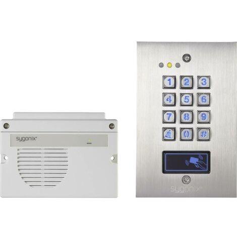 Sygonix 1582021 Serrure à code encastré IP66 avec clavier éclairé, avec unité de contrôle séparée