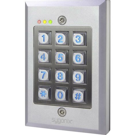Sygonix Serrure à code montage apparent (en saillie), encastré IP65 avec clavier éclairé