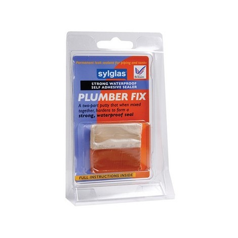 Sylglas 8620005 Plumber Fix Leak Fixer 2 Part Putty