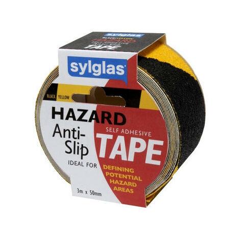 Sylglas SYLHAZARDTAPE Anti Slip Tape Yellow And Black 50mm x 3m