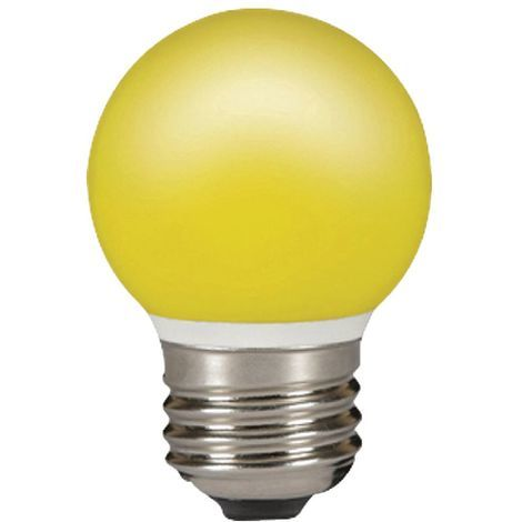 Sylvania Lampara LED Esférica de color amarillo de 0,5W, casquillo E27, vida útil de 25.000 horas
