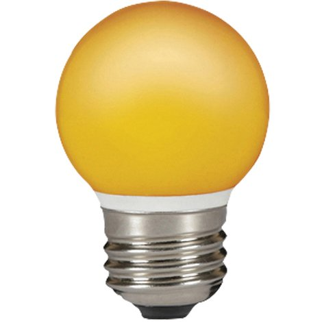 Sylvania Lampara LED Esférica de color naranja, 0.5w, toma E27, forma de globo