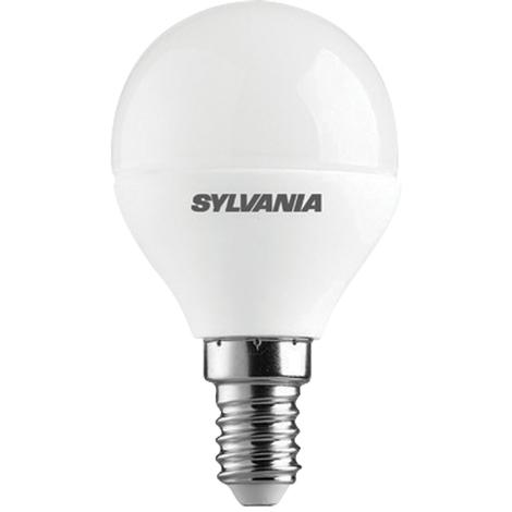 Sylvania ToLEDo Lampara LED de cristal mate con forma Esférica, potencia 6,5W, 470 lm, casquillo E14
