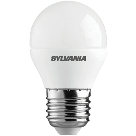 Sylvania ToLEDo Lampara LED de cristal mate forma de globo, consumo de 6,5W, 470lm, toma E27, clase A+