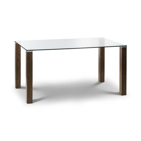 Sylvia GLASS TOP DINING TABLE