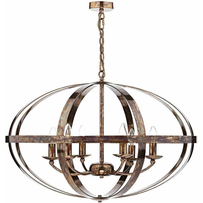 Image of 10-dar Lighting - Symbol pendant light copper and 6 bulbs