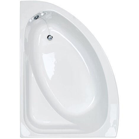 Synergy 1500mm Left Hand Offset Corner Bath - size 1500mm - color White