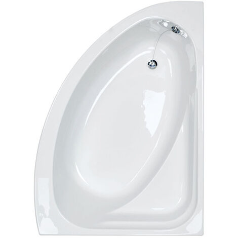 Synergy 1500mm Right Hand Offset Corner Bath - size 1500mm - color White