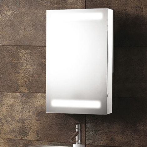 Synergy Taurus Aluminium Mirror Cabinet With Shaver Socket