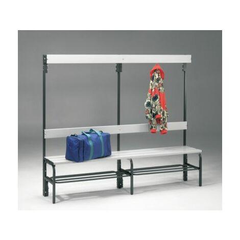 Sypro Umkleidebank aus Stahl für Feuchträume - HxT 1600 x 335 mm - L 2000 mm,