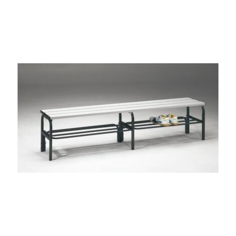 Sypro Umkleidebank aus Stahl für Feuchträume - HxT 450 x 330 mm - L 2000 mm, mit