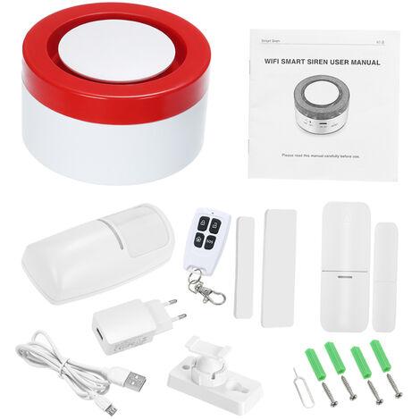 Systeme D'Alarme De Securite Wifi, Capteur De Mouvement Pir, Telecommande App, Controle Vocal
