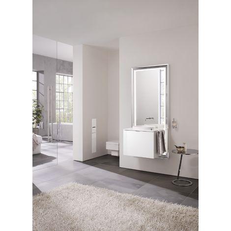 Système d'ameublement Emco touch 600 classic, sans coffret électrique, miroir, lave-mains, mitigeur, mitigeur, meuble-lavabo, Exécution: Piétement : chromé, élément bas : optiwhite - 954227800