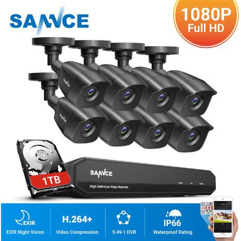 Système de caméra de sécurité Camstro 5MP-N CCTV avec 5-en-1 5MP-N H.264 + DVR et caméras de sécurité intérieure / extérieure 4 * 5MP