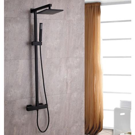 Système de douche combiné thermostatique SEDAL- 8921B Basic en noir - avec ou sans tête de douche