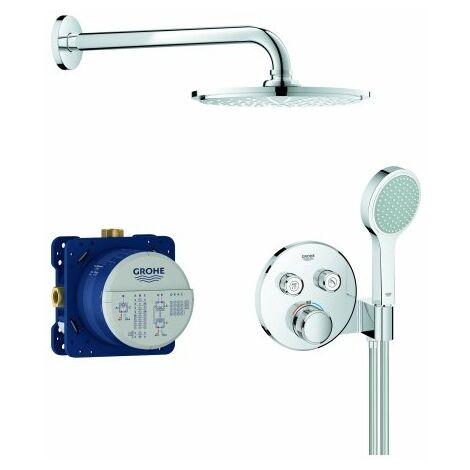 Système de douche encastré Grohe Grohtherm SmartControl, avec ensemble de douche de tête Rainshower Cosmopolitan 210, chromé - 34743000