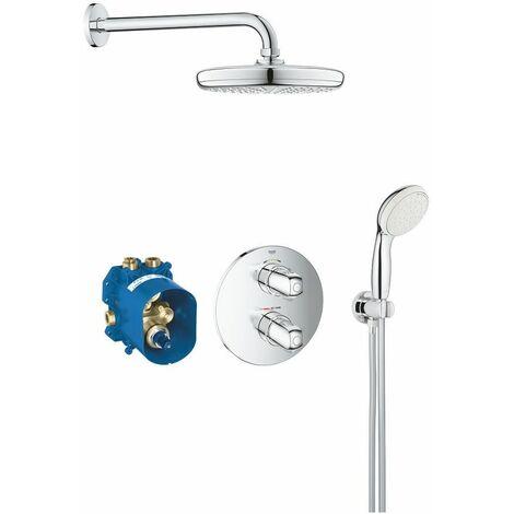 Système de douche encastré Grohtherm 1000 avec Tempesta 210