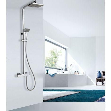 Système de douche thermostatique 3011 Basic avec douchette à main - sélection du pommeau de douche